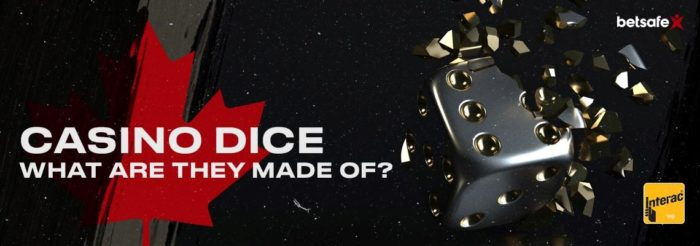What are dice made of